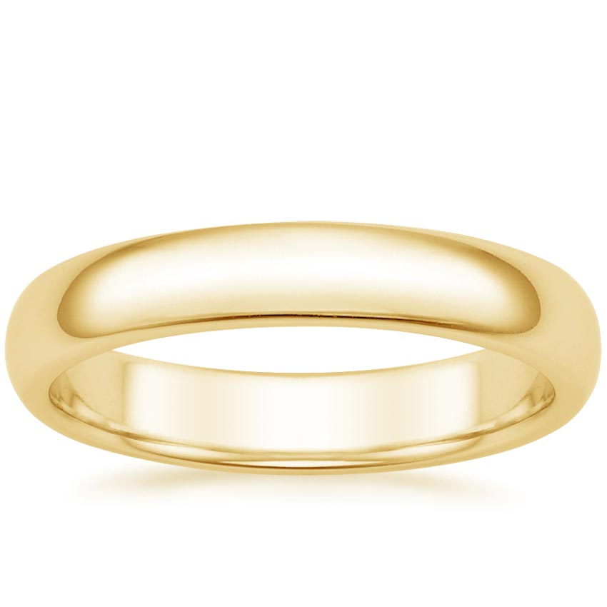 Yellow Gold 4mm Comfort Fit Wedding Ring