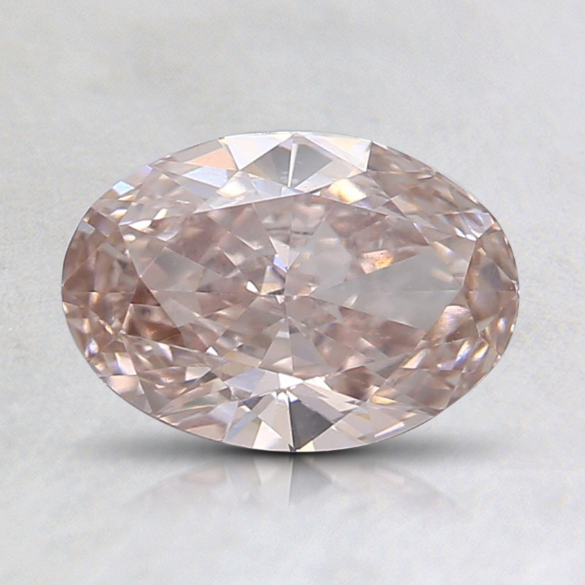 1.13 Ct. Fancy Light Brown Oval Lab Created Diamond
