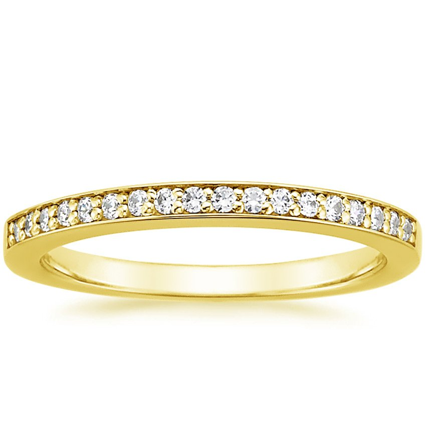 18K Yellow Gold Starlight Diamond Ring (1/8 ct. tw.), top view