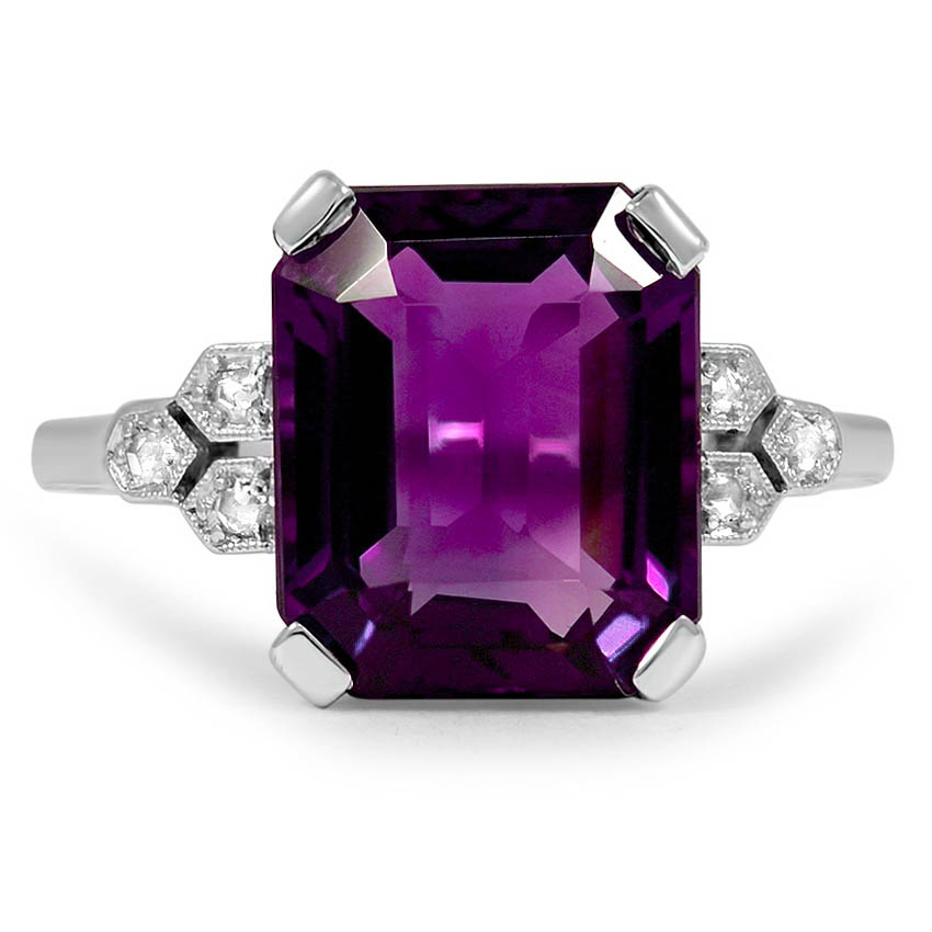 Art Deco Amethyst Vintage Ring
