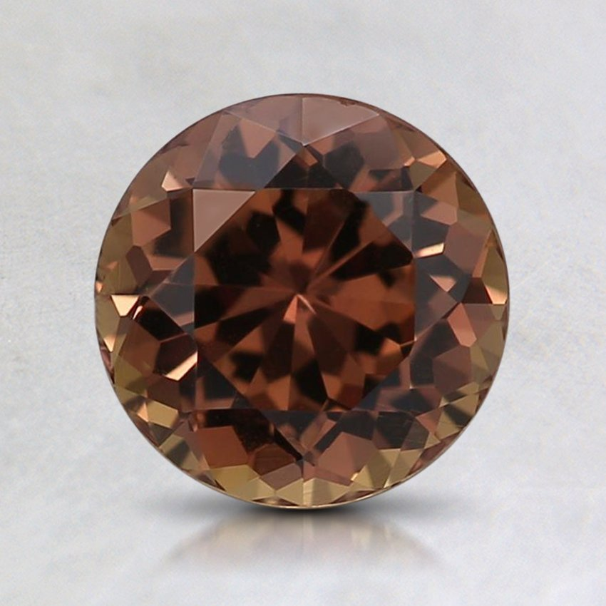 7mm Premium Dark Orange Round Sapphire
