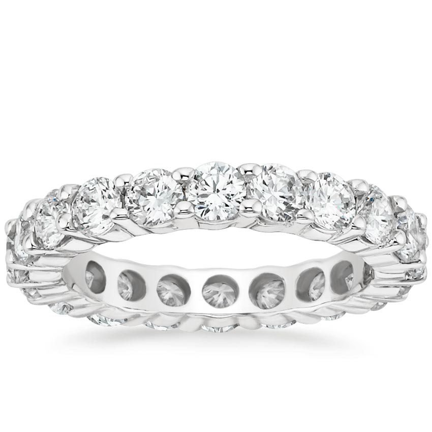 18K White Gold Diamond Eternity Ring (3 ct. tw.), top view