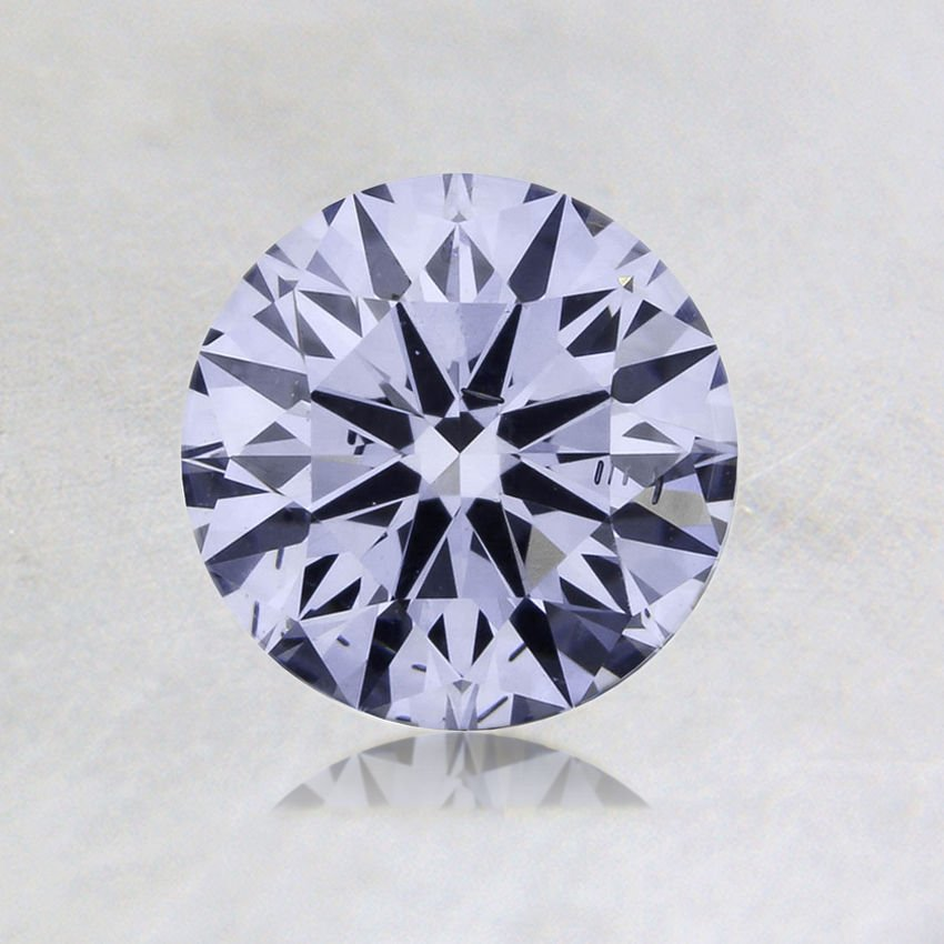 0.55 ct. Lab Created Fancy Blue Blue Round Diamond, top view