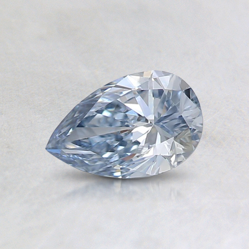 0.44 Ct. Fancy Light Blue Pear Lab Created Diamond