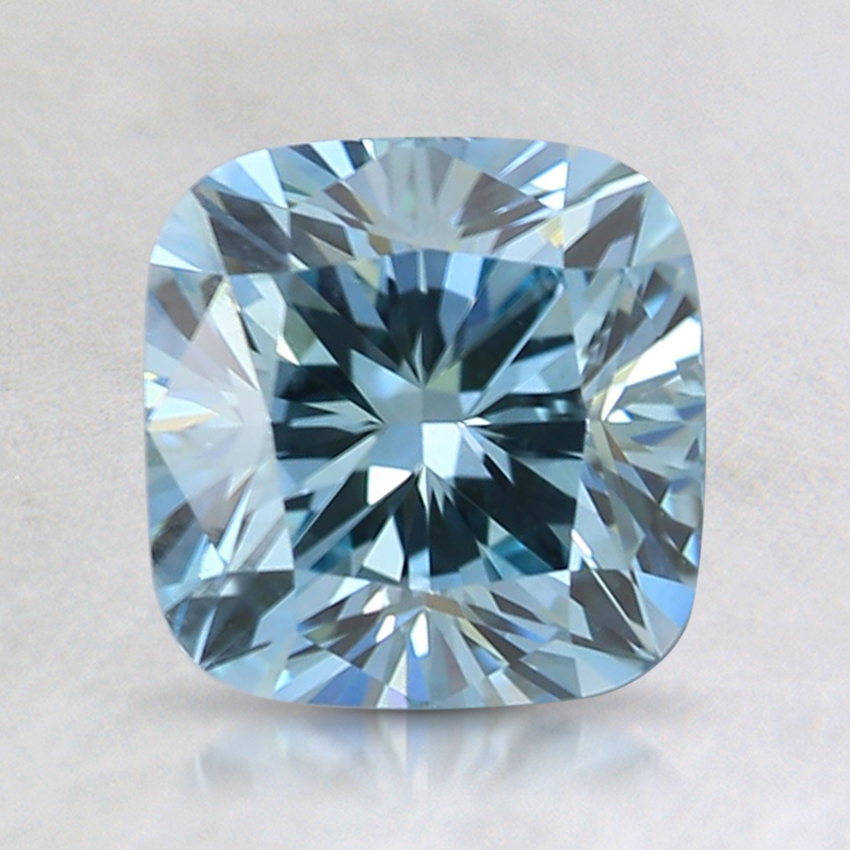 1.55 Ct. Fancy Green-Blue Cushion Lab Created Diamond