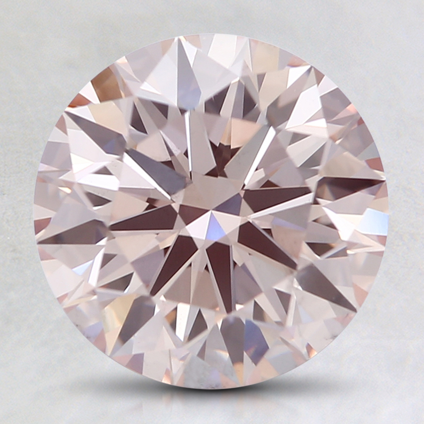 2.50 Ct. Fancy Light Pink Round Lab Created Diamond