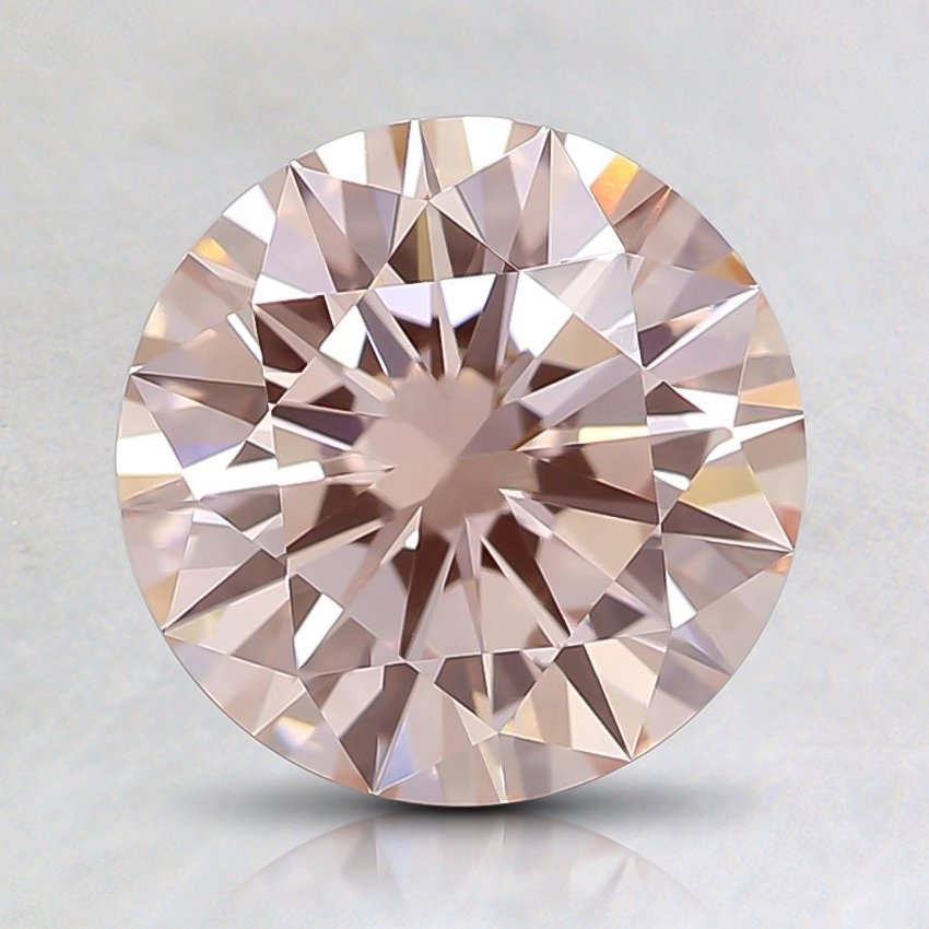 1.54 Ct. Fancy Light Pink Round Lab Created Diamond
