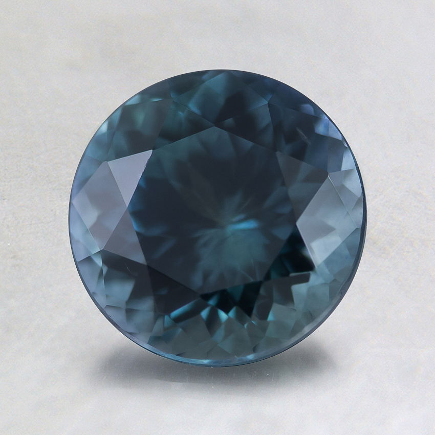 7mm Super Premium Montana Teal Round Sapphire, top view