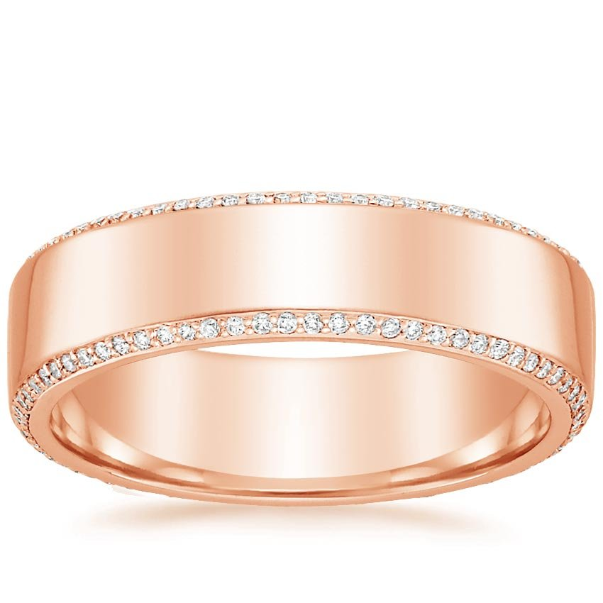 Rose Gold Avalon Eternity Diamond Wedding Ring (2/5 ct. tw.)