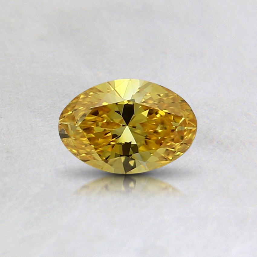 0.30 Ct. Fancy Vivid Orange-Yellow Oval Lab Created Diamond