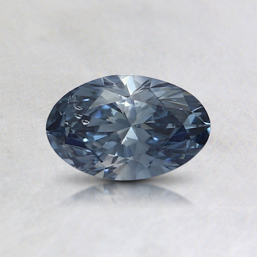 0.48 Ct. Fancy Intense Blue Oval Lab Created Diamond
