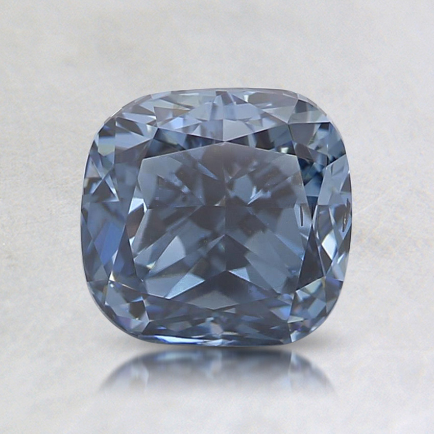 1.51 Ct. Fancy Vivid Blue Cushion Lab Created Diamond