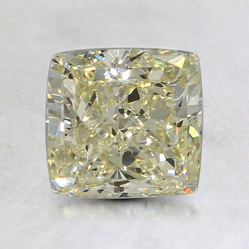 1.54 Ct. Natural Fancy Light Yellow Princess Diamond, top view