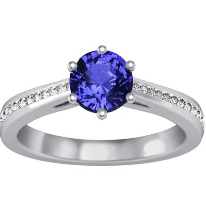 18K White Gold Sapphire Luminesce Ring (1/5 ct.tw.), top view