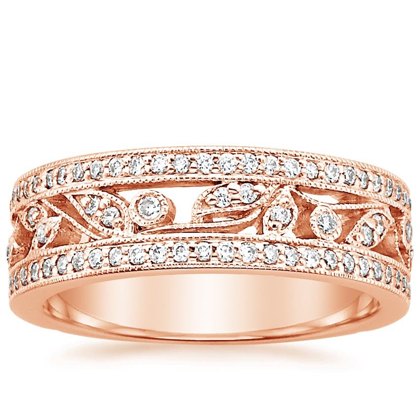 Rose Gold Flora Diamond Ring (1/2 ct. tw.)