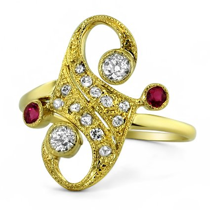 The Soraya Ring, top view
