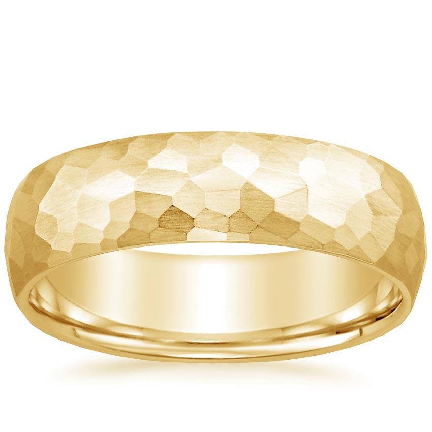 Yellow Gold 6mm Canyon Wedding Ring