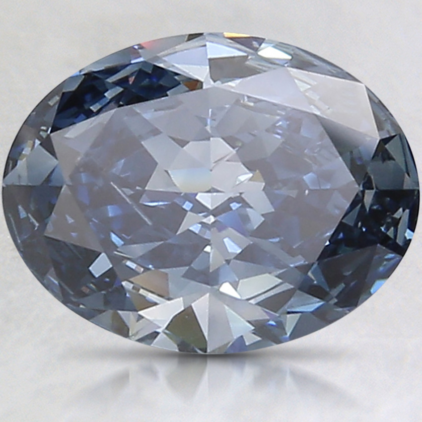 2.20 Ct. Fancy Deep Blue Oval Lab Created Diamond