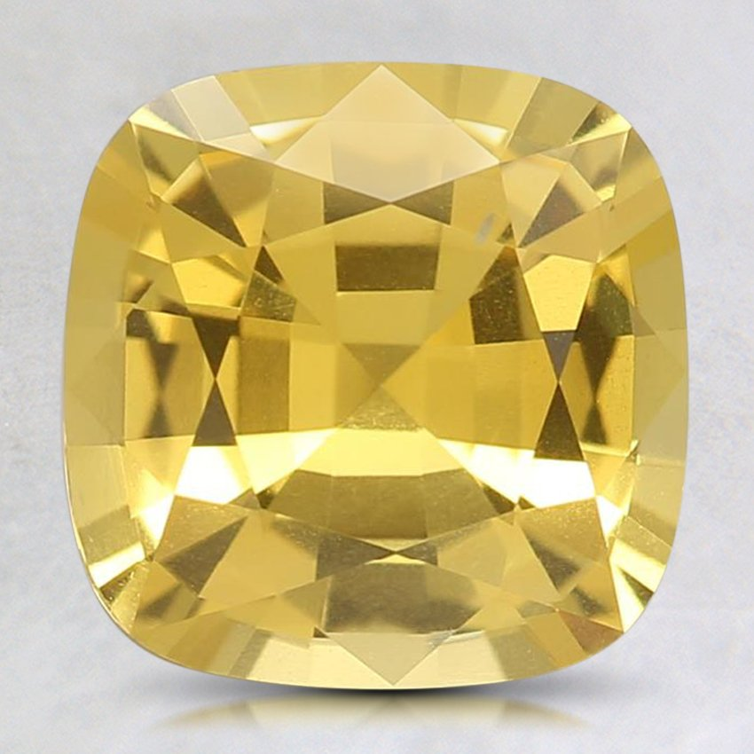 8.5mm Premium Yellow Cushion Sapphire