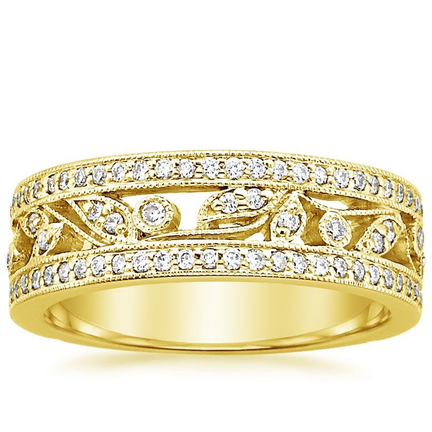 18K Yellow Gold Flora Ring (1/2 ct. tw.), top view