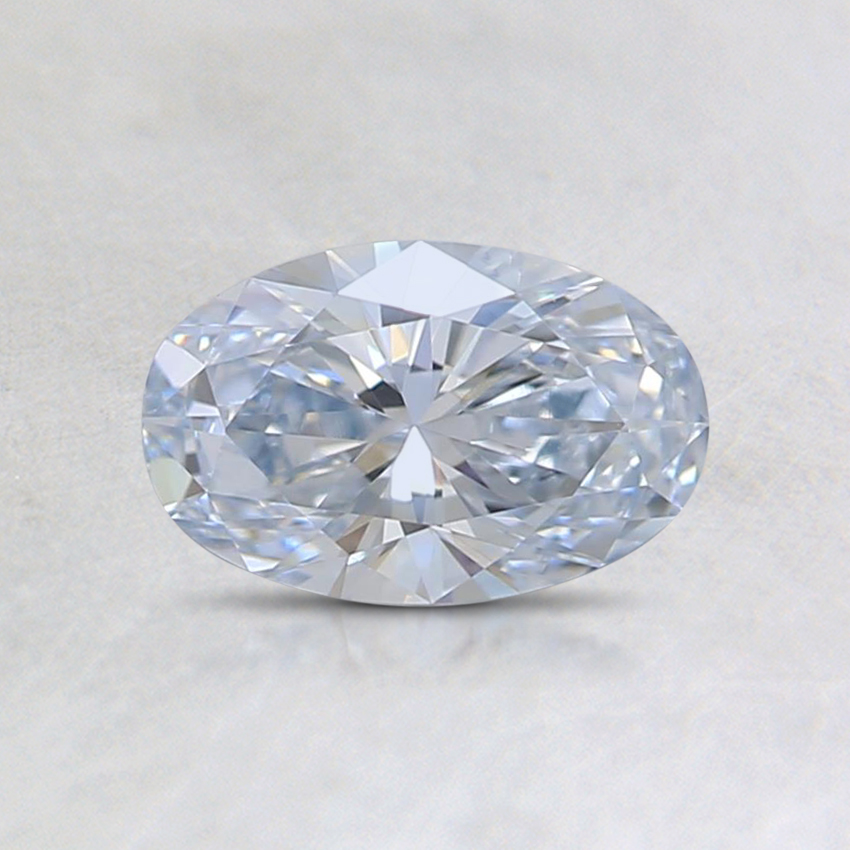 0.53 Ct. Very Light Blue Oval Lab Created Diamond