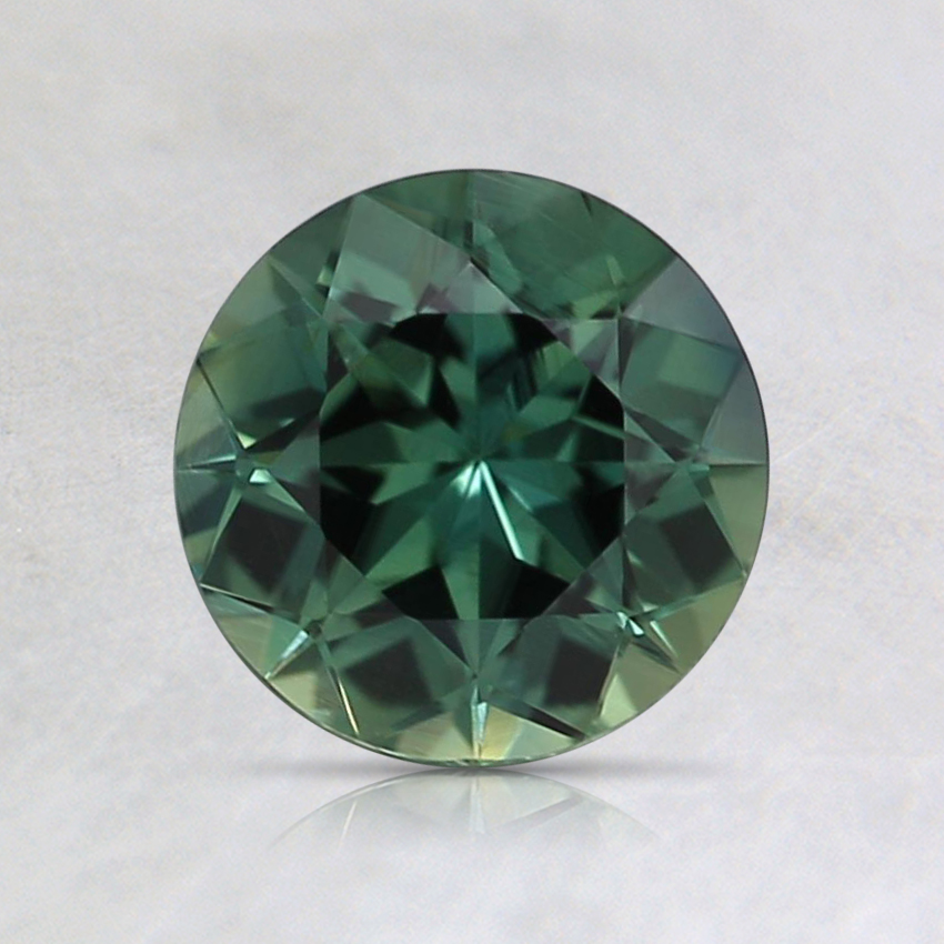 6.4mm Unheated Teal Round Sapphire