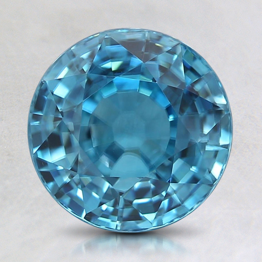 8mm Blue Round Zircon