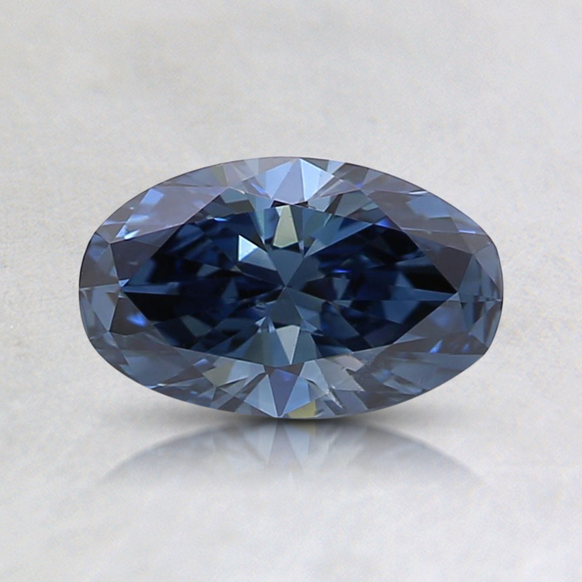 0.61 Ct. Fancy Deep Blue Oval Lab Created Diamond