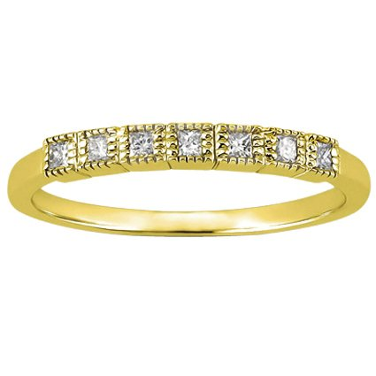 18K Yellow Gold Starla Diamond Ring, top view