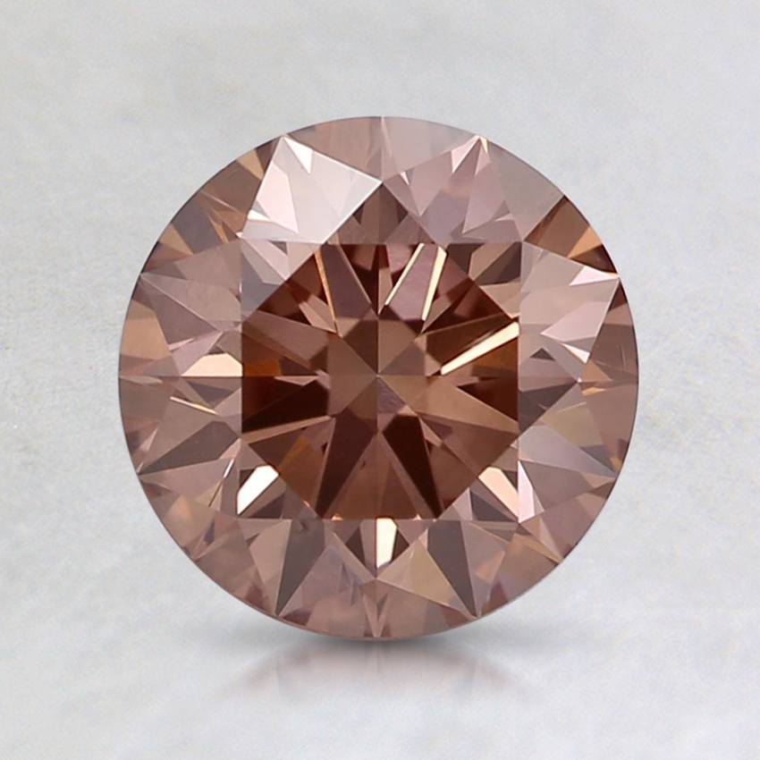 1.34 Ct. Fancy Intense Pinkish Orange Round Lab Created Diamond