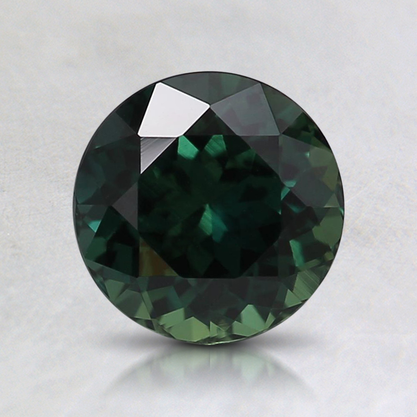 6.6mm Unheated Teal Round Sapphire