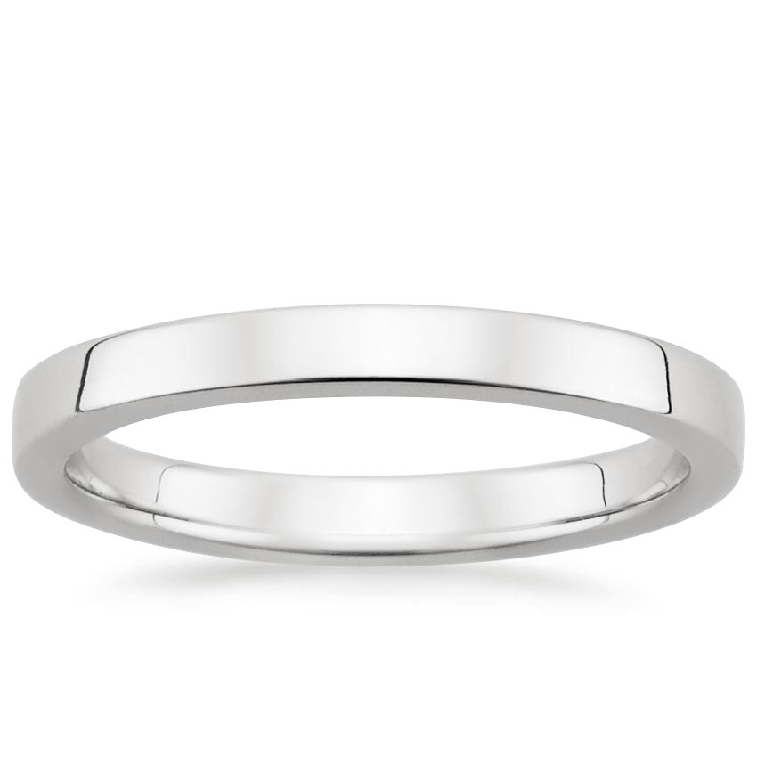 2.5mm Quattro Wedding Ring in 18K White Gold