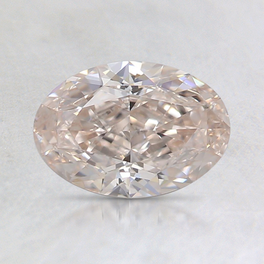1.01 Ct. Light Brown-Pink Oval Diamond
