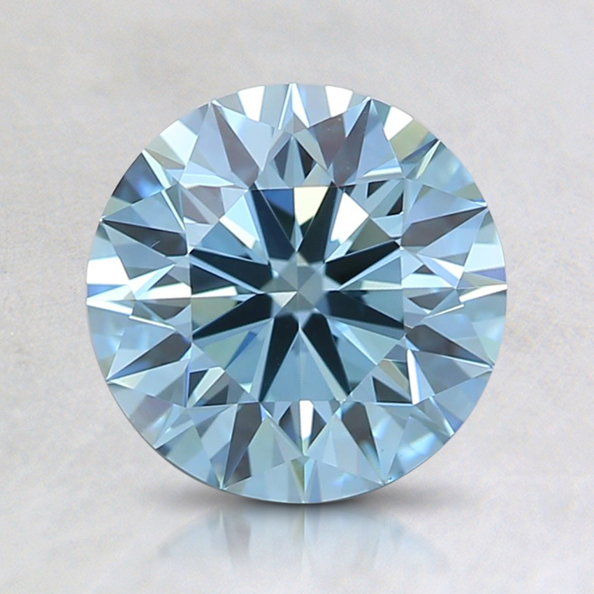 1.52 Ct. Fancy Green-Blue Round Lab Created Diamond