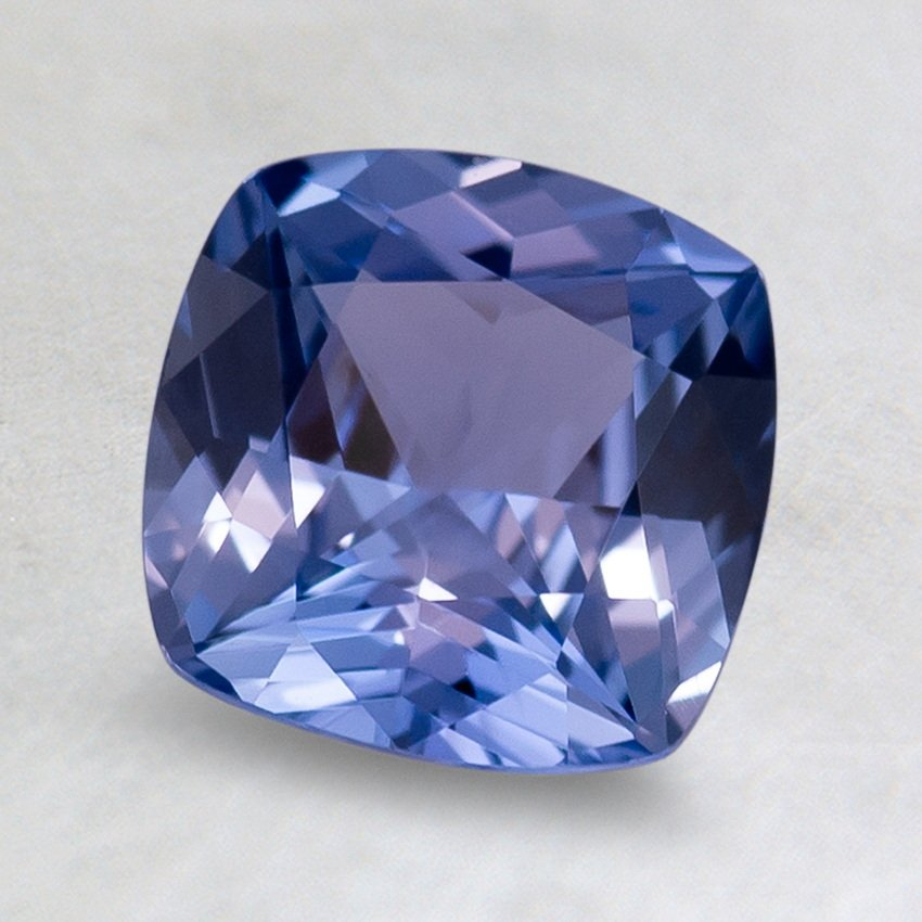 7mm Blue Cushion Sapphire, top view