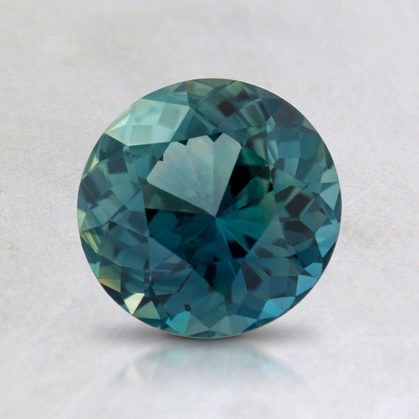 6.5mm Teal Round Sapphire, top view