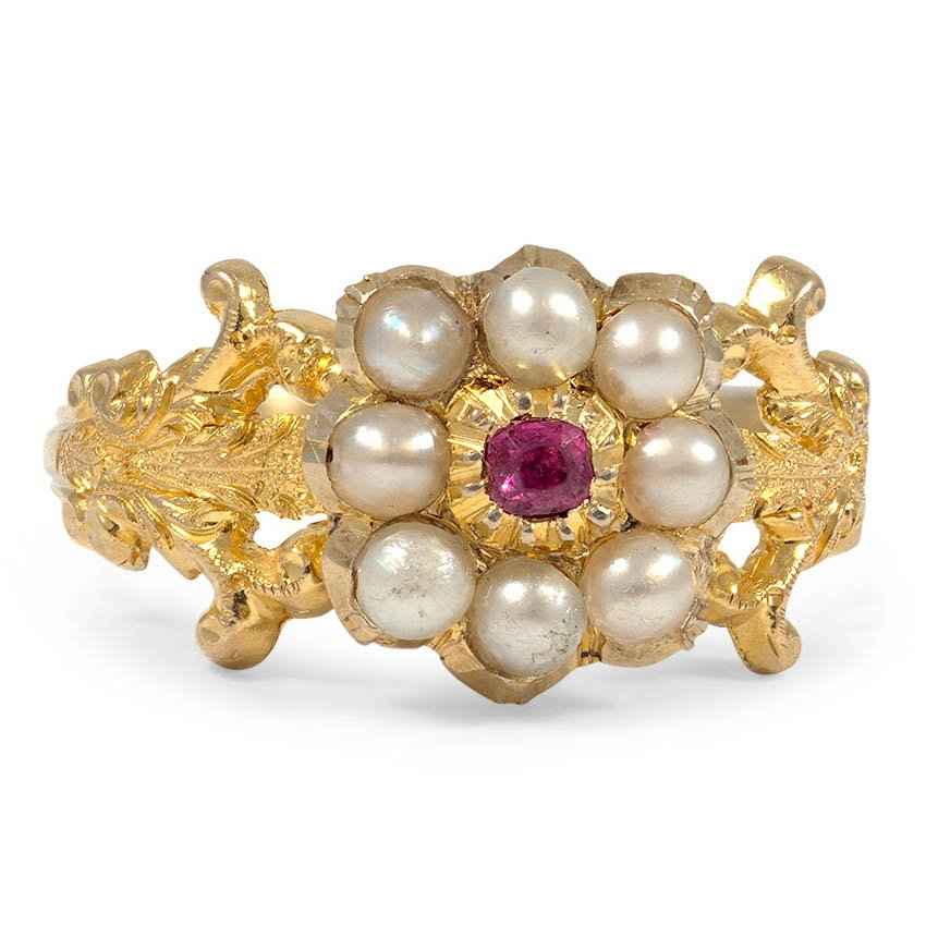 The Savina Ring, top view
