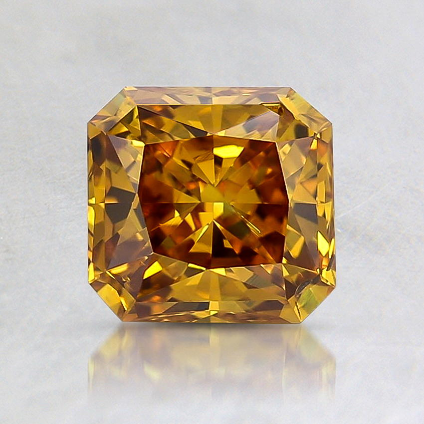 1.04 Carat Lab Created Fancy Orange Radiant Diamond