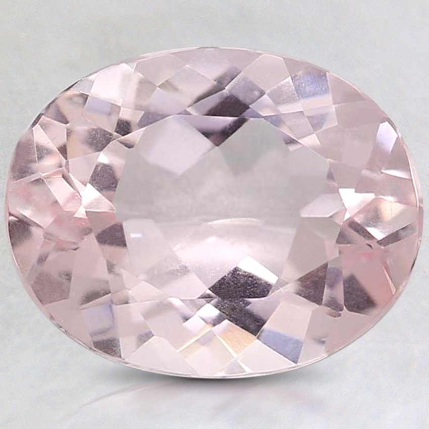 10x8mm Premium Pink Oval Morganite, top view