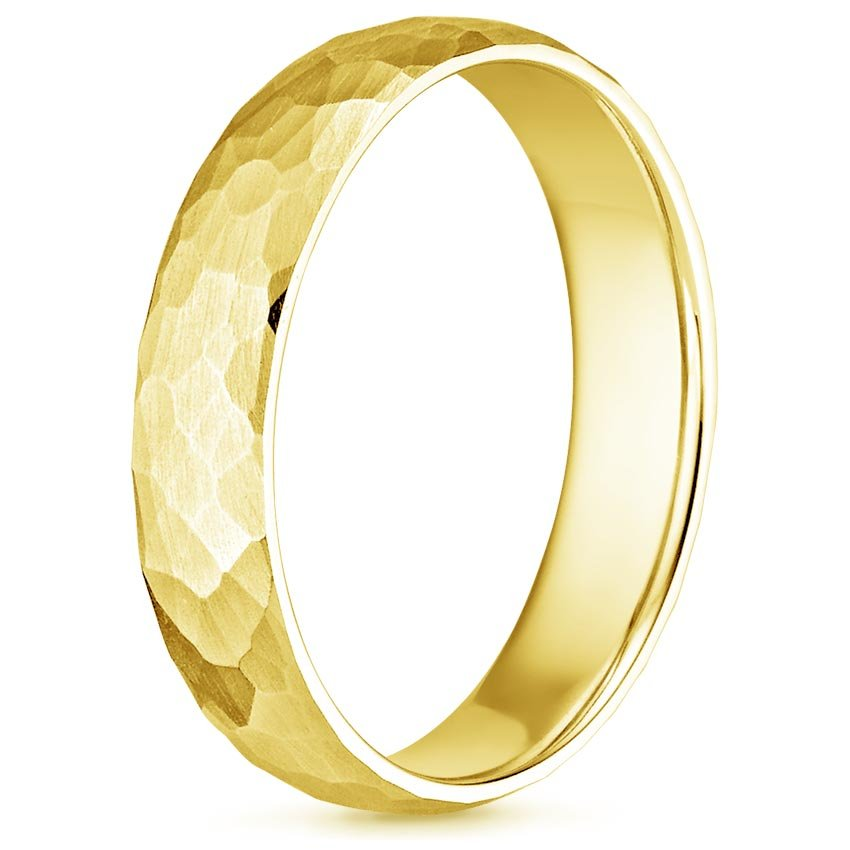 Matte Hammered Mens Ring Canyon Ring Brilliant Earth