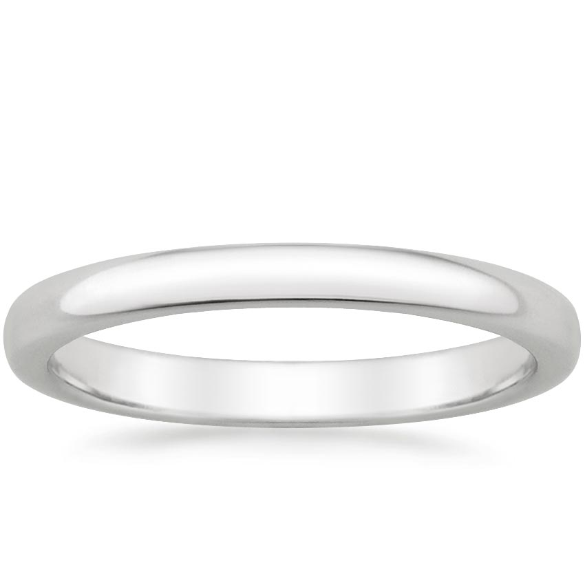 2.5mm Comfort Fit Wedding Ring in Platinum