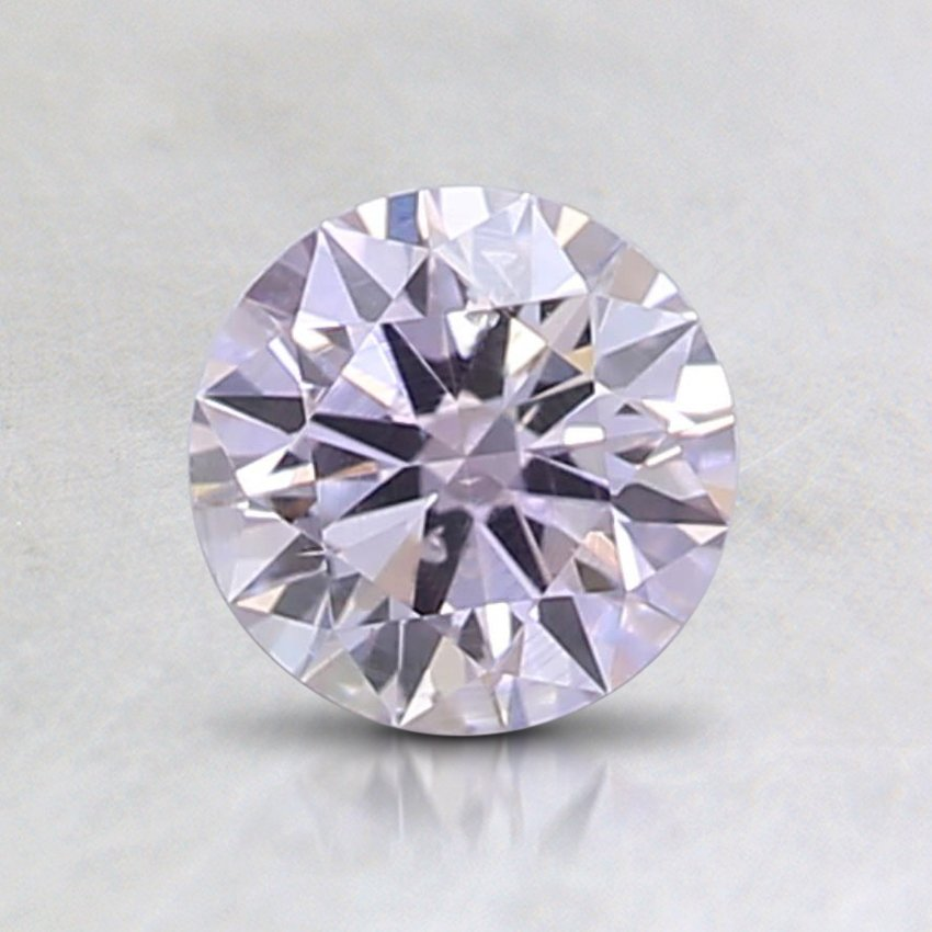 0.23 Ct. Natural Fancy Light Pink Round Diamond