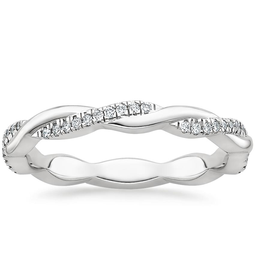 Petite Twisted Vine Eternity Diamond Ring (1/5 ct. tw.) in Platinum