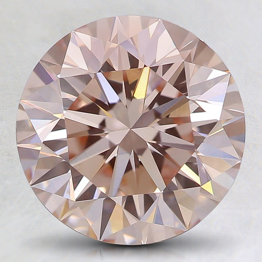2.83 Ct. Fancy Light Pink Round Lab Created Diamond