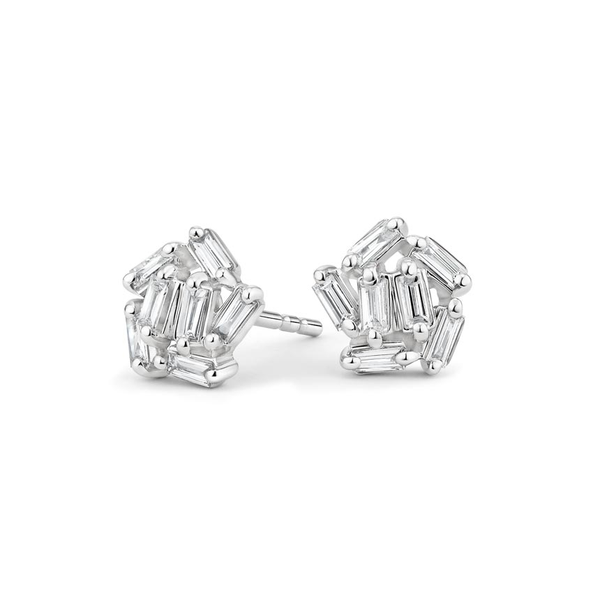 ff61246132656 Baguette Cluster Earrings