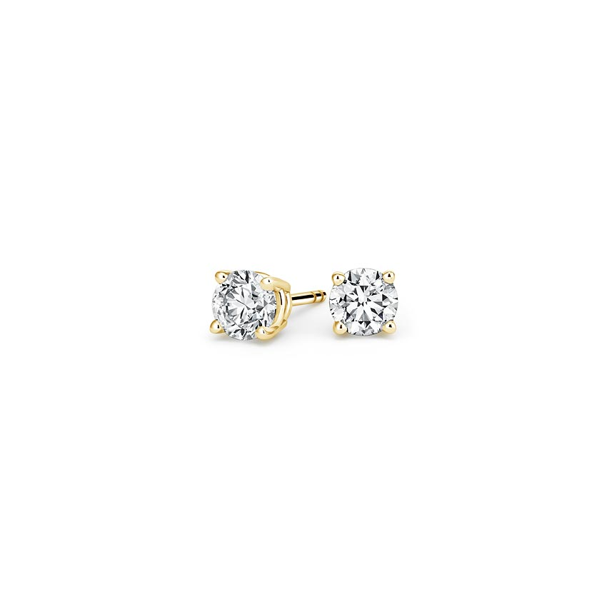 Lab Created Diamond Stud Earrings (1/4 ct. tw.) in 14K Yellow Gold