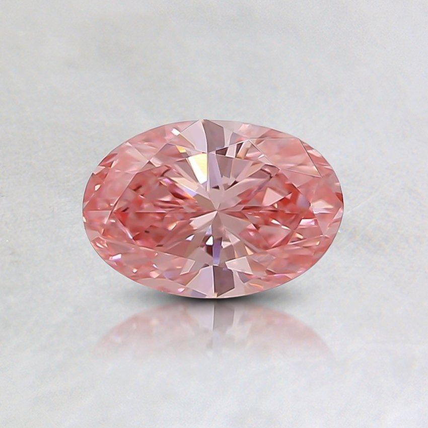 0.44 Ct. Fancy Intense Pink Oval Lab Created Diamond