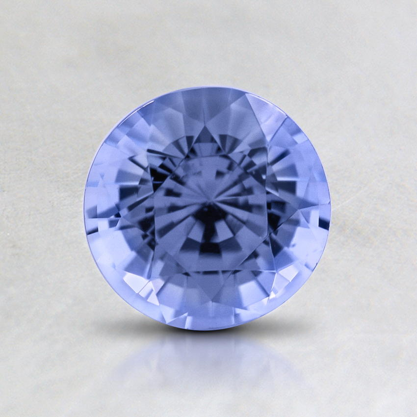 6mm Violet Round Sapphire, top view