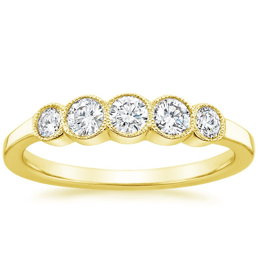 18K Yellow Gold Cherie Diamond Ring, top view