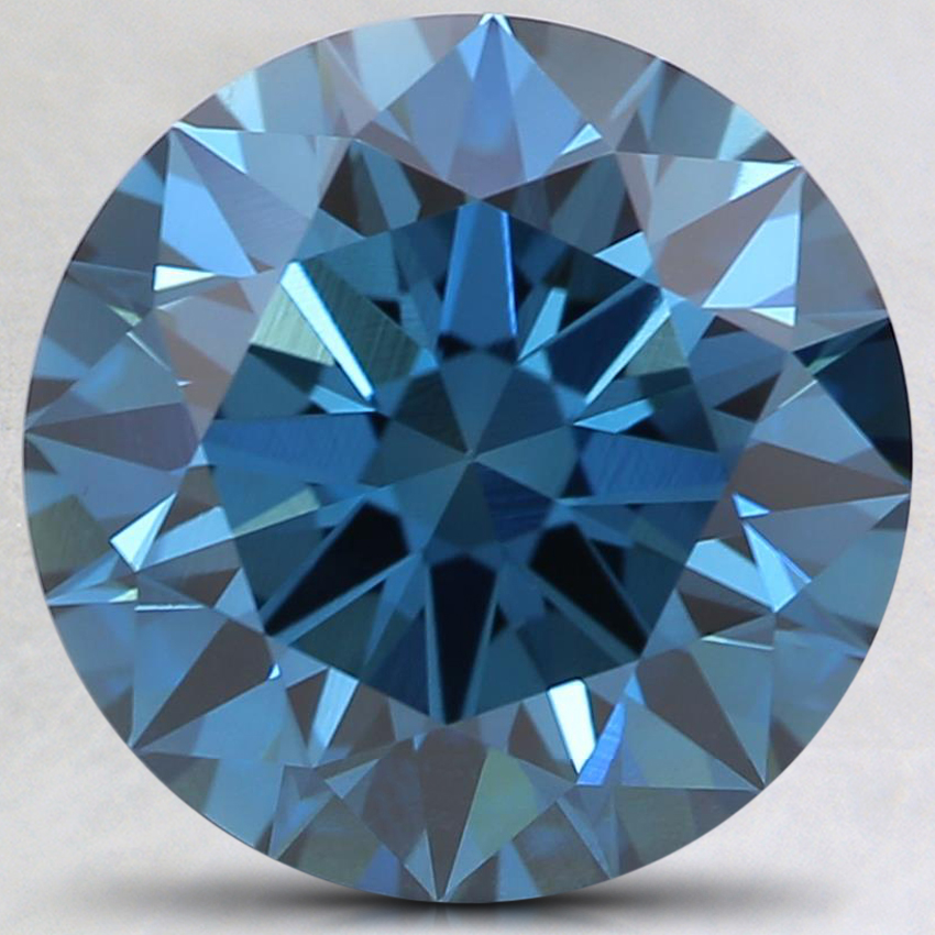 3.33 Ct. Fancy Deep Blue Round Lab Created Diamond